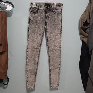 Lovesick Juniors Skinny Jeans Acid Washed